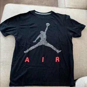 Air Jordan Nike black large Tshirt infrared